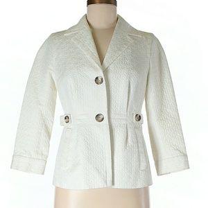 BANANA REPUBLIC White Jacket Size 4